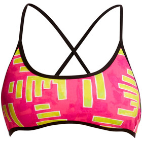 Funkita Cross Back Tie Top de bikini Mujer, bar bar